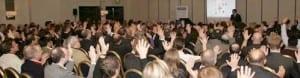 Nigel Temple delivering a marketing talk