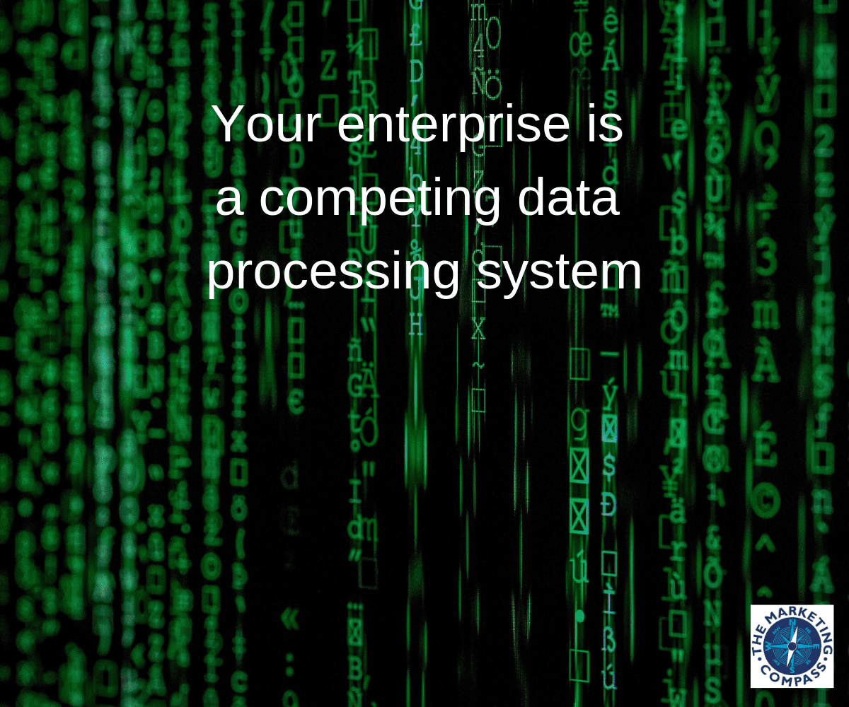 Your enterprise is a competing data processing system