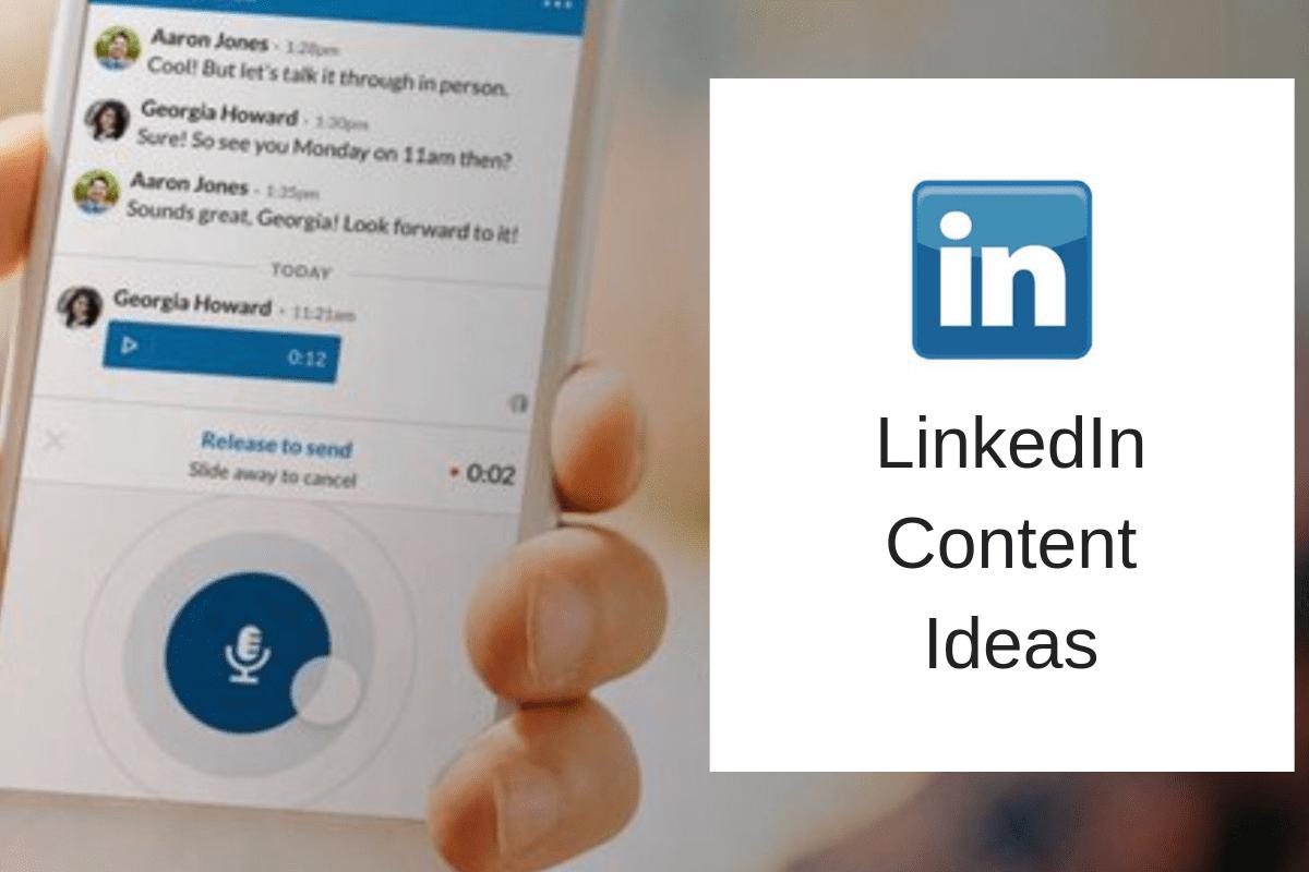 LinkedIn content ideas