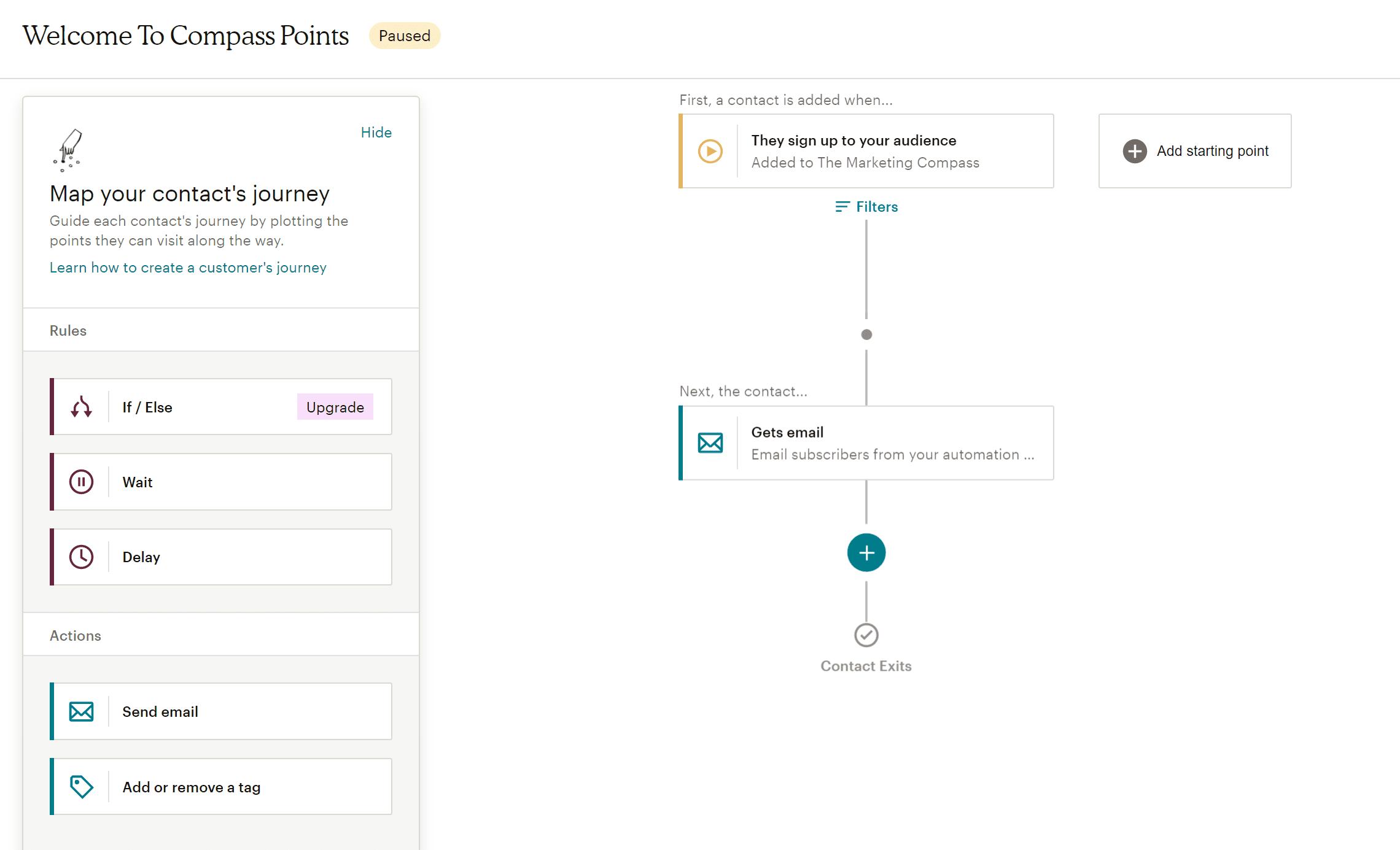 MailChimp Customer Journeys